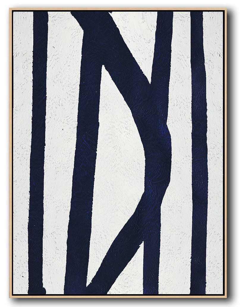 Large Abstract Painting On Canvas,Navy Blue Abstract Painting Online,Artwork For Sale